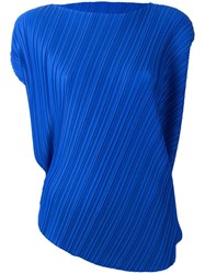 Issey Miyake Pleats Please By Pleated T Shirt Blue