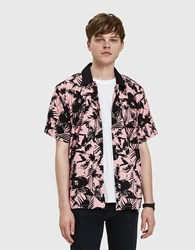 Obey Nate Woven Shirt In Pink Multi