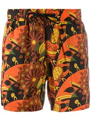 Rrd Printed Swim Shorts Orange