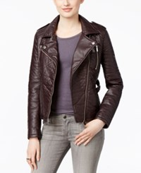 Rachel Roy Faux Leather Motorcycle Jacket Only At Macy's Berry