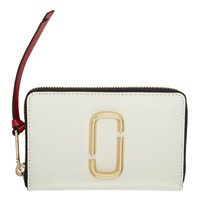 Marc Jacobs Off White Small Snapshot Standard Continental Wallet