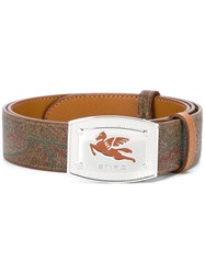 Etro Logo Buckle Belt Multicolour