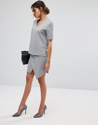 Selected Sweat Skirt Grey