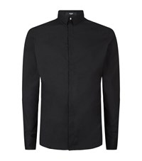 Versus By Versace Versus Versace Embroidered Lion Back Shirt Male Black
