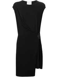 Lost And Found Wrap Front Dress Black