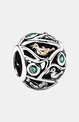 Pandora Design 'Birds Of A Feather' Charm Silver Green Gold