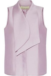 Merchant Archive Pussy Bow Duchesse Satin Top Lilac