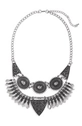 Junior Women's Bp. Filigree Statement Necklace Silver Burnish