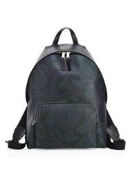 Burberry Abbeydale Floral Printed Backpack Navy