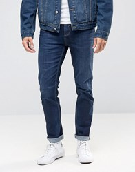 Selected Homme Dark Wash Jeans With Stretch In Slim Fit Blue