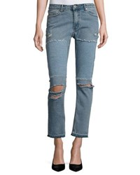 Cheap Monday Common Distressed Skinny Jeans Blue