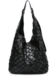 Osklen Textured Tote Bag Black