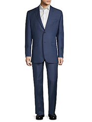 Saks Fifth Avenue Pinstripe Classic Fit Wool Suit Grey