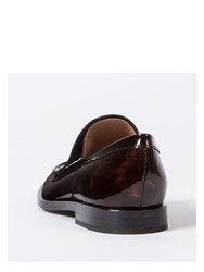 Paul Smith Women's Tortoiseshell Patent Leather 'Hasties' Loafers Brown
