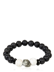 Ocnarf Sairutsa Rock And Raw Bracelet Black White