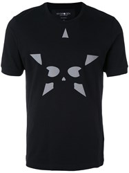 Hydrogen Star Print T Shirt Men Cotton Xl Black
