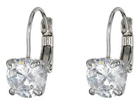 Cole Haan Lever Back Cubic Zirconia Earrings Silver Crystal Earring