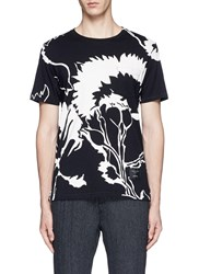 Rag And Bone X Liberty Floral Print Patch Pocket T Shirt Black