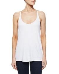 Haute Hippie Scoop Neck Sleeveless Camisole Swan