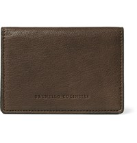 Brunello Cucinelli Leather Bifold Cardholder Brown