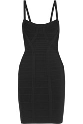 Herve Leger Katarina Studded Bandage Mini Dress Black