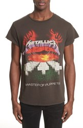 Madeworn 'S Metallica Master Of Puppets Graphic T Shirt Dirty Black