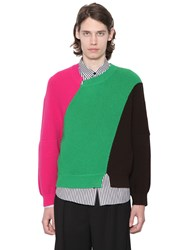 J.W.Anderson Color Block Merino Wool Knit Sweater