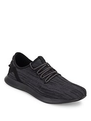 Steve Madden Roundtoe Lace Up Sneakers Black Grey