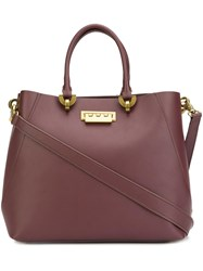 Zac Posen Removable Strap Large Tote Red