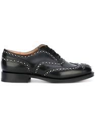 Church's Stud Brogued Oxfords Black