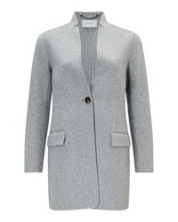 Jigsaw Double Face Chip Rever Coat Grey