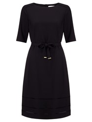 Boss Logo Boss Tie Waist Dress Black
