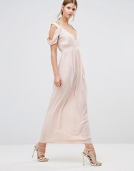 Oh My Love Cowl Shoulder Maxi Dress Peach Pink