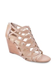 Adrienne Vittadini Andre Suede Wedge Sandals Beige
