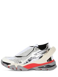 Calvin Klein 205W39nyc Cander 7 Mirror Leather Sneakers Silver