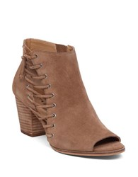 Lucky Brand Hartlee Suede Leather Booties Tan