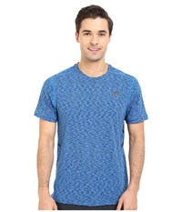 New Balance Max Speed Short Sleeve Top Sonar Men's Short Sleeve Pullover Blue