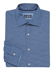 Breuer Birdseye Regular Fit Dress Shirt Navy