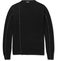 Raf Simons Embroidered Wool Sweater Black