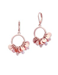 Lonna And Lilly Disc Accented Drop Earrings Rose Gold