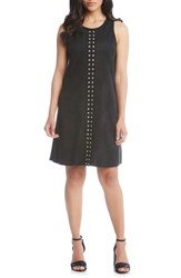 Karen Kane Studded A Line Dress Black
