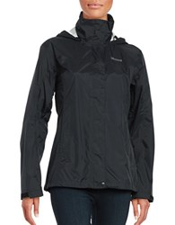 Marmot Precip Hooded Long Sleeve Jacket Black