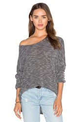 Stateside Loose Knit Long Sleeve Charcoal