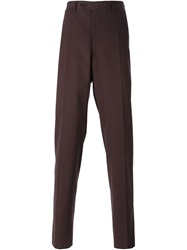 Canali Fine Corduroy Trousers Red