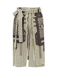 Craig Green Gingham Check Cotton Poplin Shorts Black Black Green
