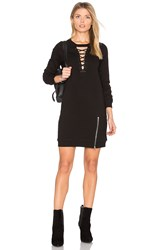 Pam And Gela Choker Lace Up Dress Black