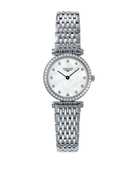 Longines Ladies La Grande Classique Quartz Watch With Diamond Bezel Silver