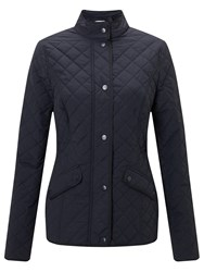 John Lewis Quilted Jacket Navy
