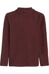 A.P.C. Wool Blend Tweed Turtleneck Sweater