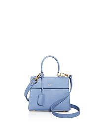 Mateo The Elizabeth Mini Leather Satchel Espirit Light Blue Gold
